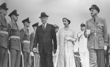 President Eisenhower attending the opening of the Saint Lawrence Seaway