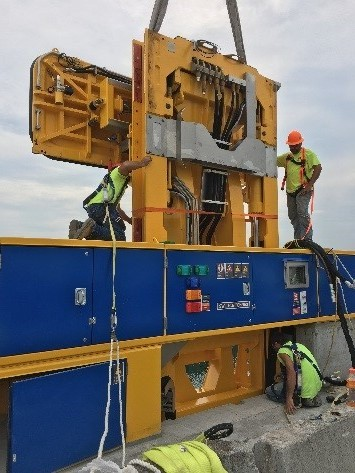 Hands Free Mooring technology installation at U.S. Seaway locks.
