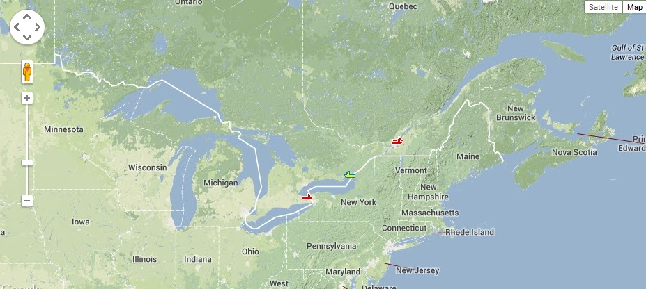 Interactive Shipping Map And Shipping Schedule Saint Lawrence Seaway - St lawrence river on us map