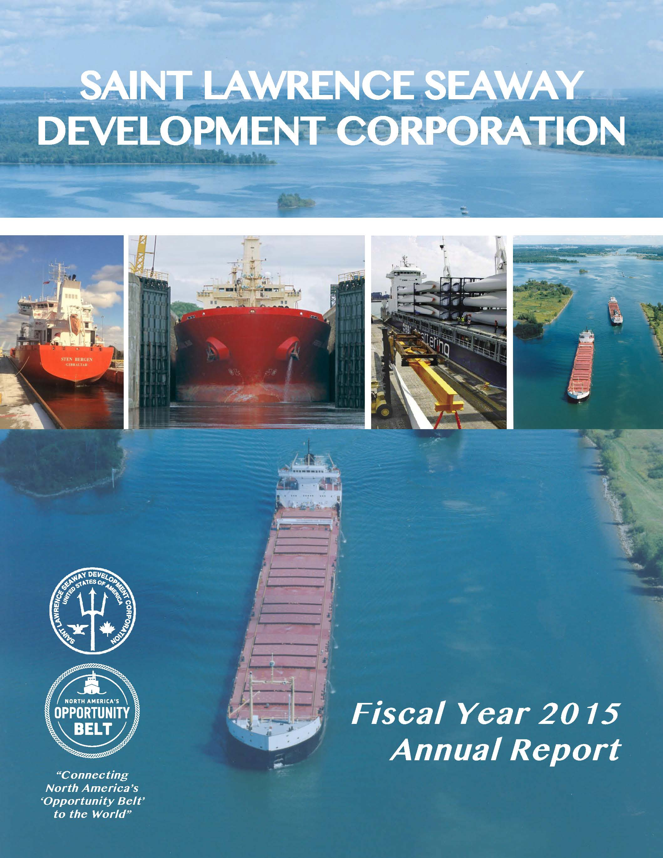 SLSDC FY'15 Annual Report cover